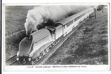 LNER Silver Jubilee Britain's first streamlined train no 2593 RP PPC, Unposted