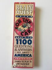 Brain Quest Extra For The Car Ages 7-12 All About America Deck One Back Seat