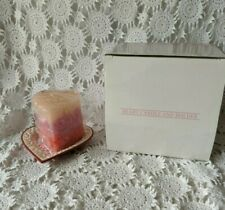 Avon Gift Collection Heart Candle And Holder 2002 Nos