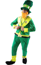 Orion Costumes Mens Green St Patrick's Day Leprechaun Irish Fancy Dress Costume