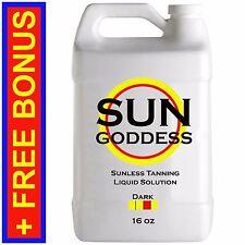 SUN GODDESS - DARK - 16 oz - Spray Tan Solution Sunless Tanning Self Tanner
