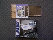 Nintendo Game Boy Advance SP AGS 101 Graphite ( BOX ONLY) With Instructions