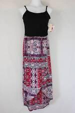 NEW Womens Maxi Dress Small Long Wrap Skirt Sleeveless Spaghetti Strap Stretch