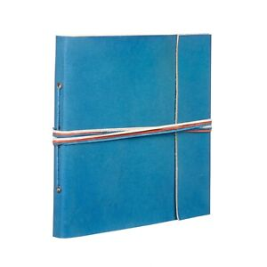 Fair Trade Handmade 3 String Turquoise Leather Photo Album 2nd Quality