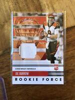 2020 Panini Absolute Football Rookie Force Joe Burrow Patch RC #1