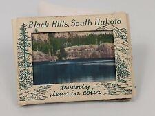 Vintage BLACK HILLS SD Postcard MINI Pack Linen Souvenir Colored Unused 1½¢ post