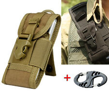 Universal Army Camo Bag F Mobile Phone Belt Loop Hook Cover Holster Pouch Case