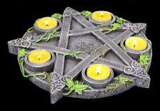 Porte-Bougies - Wicca Pentagramme - Fantastique Gothique Autel Rituel