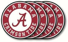 Alabama Crimson Tide Vinyl Coasters 4 Pack Duck House Sports 4in. Dia. Washable