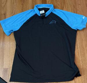 Men's Carolina Panthers Nike Fan Gear Raglan Tri-Blend Polo 2XL NWT $70