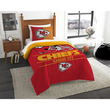 "Nfl Kansas City Chiefs ""Draft"" Bedding Comforter Set Bed-in-a-Bag Football Team"