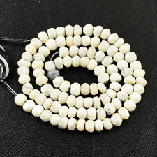 40.00 Cts / 12 Inches Earth Mined Howlite Round Cut Beads Strand NE-110E198