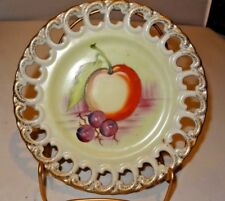 Cut Out Mushroom Apple and Grapes Collector Wall Plate
