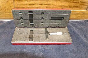 """STARRETT # 445 Depth Micrometer SET, 0"""" - 6"""" x .001"""", 445BZ-6RL, OEM Box, EC, LN"""