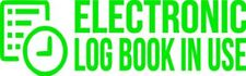 """Set Of 2 LIME """"E-Log Device in Use"""" Electronic Log Book Decal Sticker Truck ELD"""