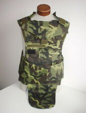 CZECH ARMY original issue VZ95 camo flak vest XLarge size removed panels UNUSED