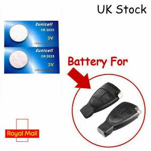 2 x Batteries for Mercedes A B C CLASS CLK CL E GL G Class Remote Key FOB CR2025