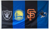 SF Giants & Oakland Raiders & Golden State Warriors & San Jose Sharks 3X5FT flag