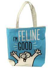 Simon's Cat Cotton Zip Up Shopping Bag - 'I'm Feline Good' - BNWT - SECONDS