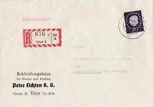 Brief verschickt von Trier nach Obersontheim W. Jahr 1960 Einschreiben