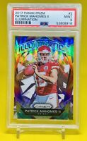 PATRICK MAHOMES 2017 Prizm Illumination Refractor RC, Kansas City Chiefs — PSA 9