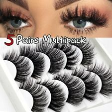 5 Pairs Natural Soft Eye Lashes Handmade Thick Long Fake Cross False Eyelashes