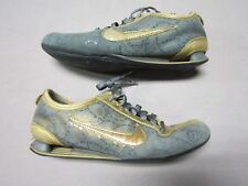 NIKE SHOX RIVALRY PREMIUM WOMENS GOLD TRAINING SHOES SIZE 7 #316327-071 RARE
