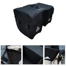 Mountain Bike Rear Rack Bag Waterproof MTB Bicycle Carrier Luggage Pannier Black