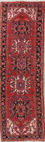 VINTAGE 11 ft. RED Runner Heriz Tribal Oriental Wool Rug Hand-Knotted 10'8 x 3'6