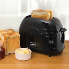 2 Slice 700W Easy Clean | Non Stick | Toaster | Black Defrost Function