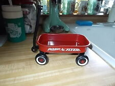 "Vintage Radio Flyer Say's 80 Year's  Mini Metal Red Wagon collectible 6"" long"