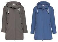 Sheego Damen Long Softshell Jacke Blau Grau Winter Herbst Übergang Freizeit NEU