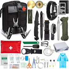 Emergency Survival Kit, 47 Pcs Professional Survival Gear Tool First Aid Kit SOS
