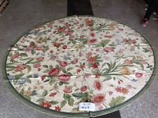 8' Hand Crafted ROUND Needlepoint Rug Beautiful Floral Stunning Country Decor