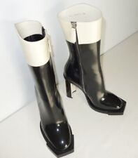 *BNIB* ALEXANDER McQUEEN - Two-Tone Leather Ankle Boots - 36