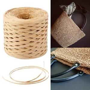 ✅200M Gift Raffia Paper Cord Rope DIY Ribbon Wrapping Scrapbooking Coffee xmas