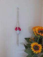 Macrame , Boho Plant Hanger for MINI POTS, Indoor & Outdoor, Modern Air Hanging