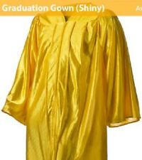 "Yellow Gold shiny Graduation Gown - Choir Robe (approx for height 5'10"" to 6')"