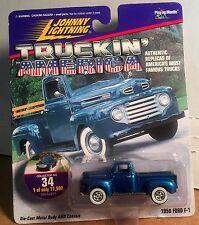 1950 Ford F-1 Pickup Johnny Lightning Truckin' America #34 1:64 Die-cast MIP!