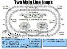 LIONEL FASTRACK 2 MAIN LINE LOOP TRACK PACK 5'x8' O Gauge Train Layout fast NEW
