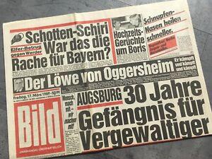 Bildzeitung 17.03.1989 März    Das besondere Geschenk 30. 31. 32. 33. Geburtstag