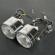 Chrome Dominator Headlights W/ Bracket Fit Dirt Bike Street Fighter Cafe Racer