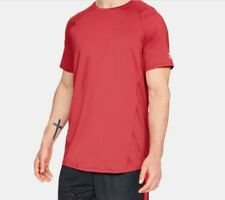 Under Armour Men's MK1 Short Sleeve T-Shirt, Red (600)/Steel, Large