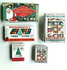 Miniature Vintage Christmas WOOLWORTHS combo tree lights ornaments hangers 5pk