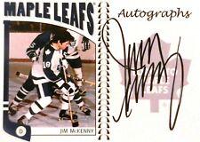 04-05 itg franchises jim mckenny toronto maple leafs autograph auto