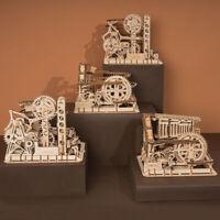 ROKR DIY Toy Marble Run Building Gear Model Construction Kits Roller Coaster Set