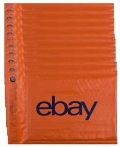 10 Ebay Branded Padded Bubble Envelopes 160x220mm DVD Size Fits Large Letter
