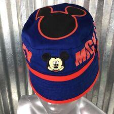 Disney Toddler Mickey Mouse Navy Red Trim  Sun Cap Toddler Children Bucket Hat