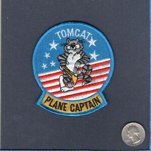 F-14 F-14B TOMCAT PC Plane Captain US NAVY VF Squadron Maintenance Jacket Patch