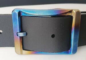 hochwertige TITAN Gürtelschließe ELOXIERT Belt 4cm Gürtelschnalle antiallerg